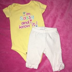 Other - 🔥$3 SALE🔥🍒baby Girls Outfit🍒 size 3-6 Months🍒